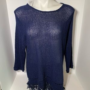 NWT Easywear by Chico's Sweater 3/4 Sleeve Large